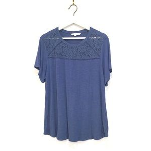3/$30🌵Cleo Blue Lacey Casual Comfy Top Sz S